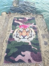 Pack den Tiger an den Strand - Tiger Rose Hamam Tuch