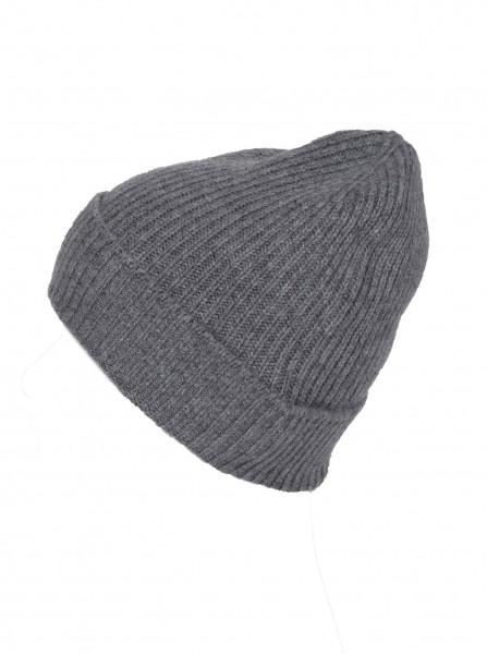 100% Cashmere - Mütze mittelgrau