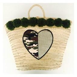 Herzteil Camouflage Heart Korb - reduziert