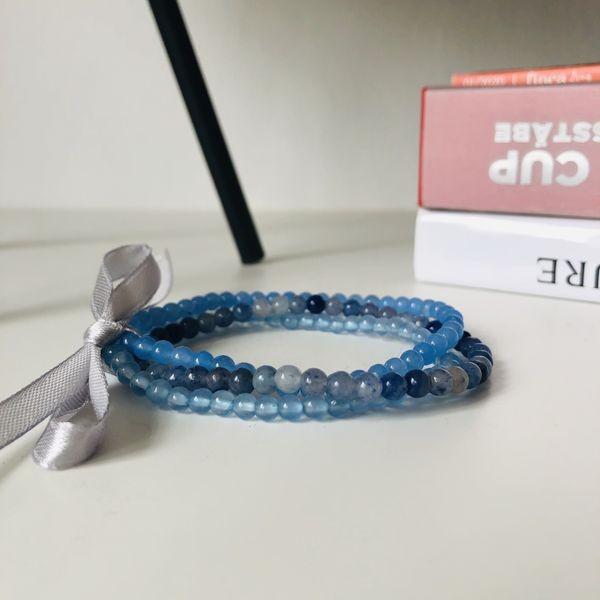 Blue Triplet - Edelstein Armbandset