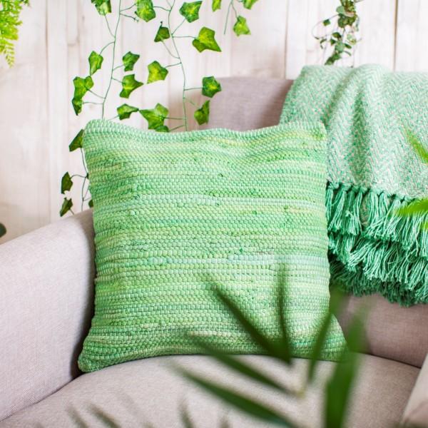 Herzteil-Bohemian-Kissen-Indian-Green