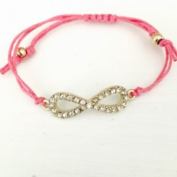 Pink Infinity Armband - Yogaschmuck by Herzteil
