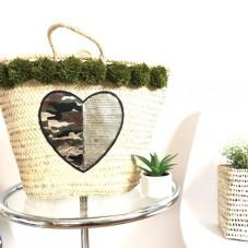 Herzteil Camouflage Heart Korb - Einzelstück  reduziert