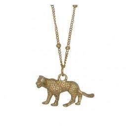 Vergoldete Leopard Kette