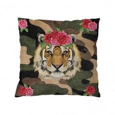 Tiger Rose Kissenhülle