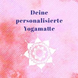 Deine personalisierte Herzteil Jute Yogamatte
