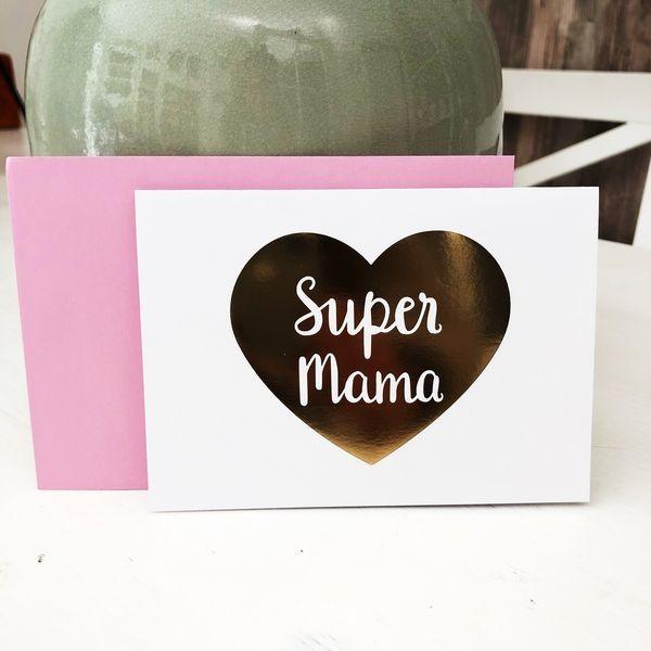 Super Mama Klappkarte