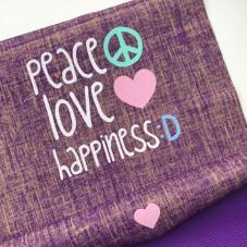PEACE LOVE HAPPINESS Jute Yogamatte