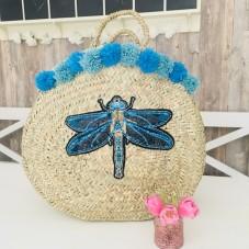Dragonfly Pailletten Korb by Herzteil - Einzelstück