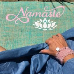 Herzteil Jute Yogamatte Namaste