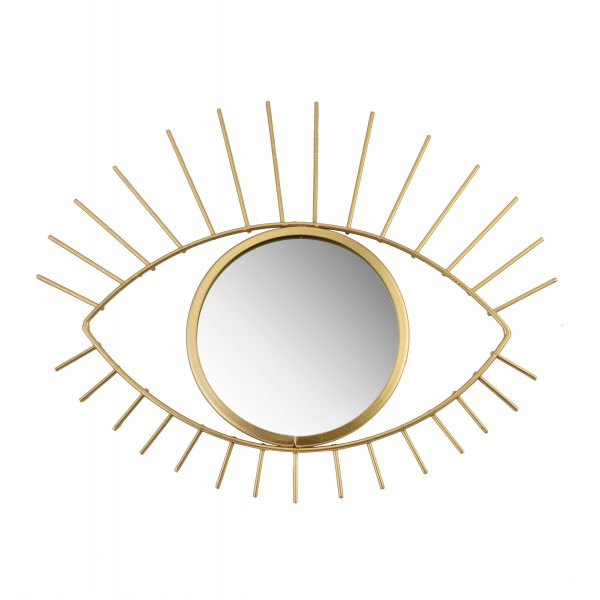 Marokkanischer Rattan Spiegel Eye