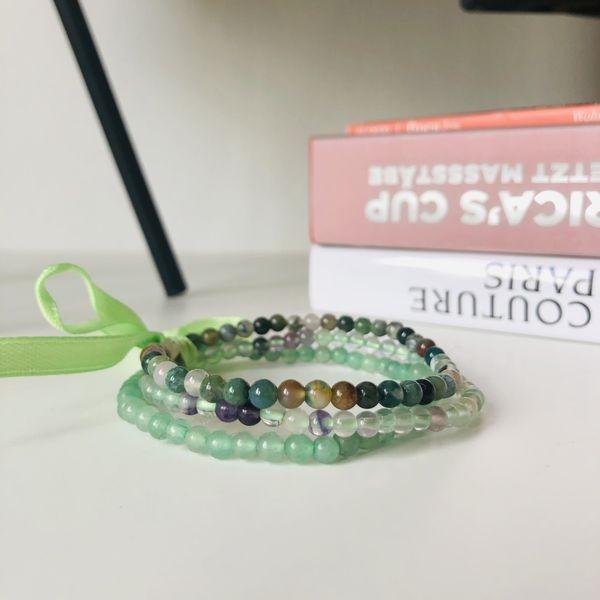 Green Triplet - Edelstein Armband Set