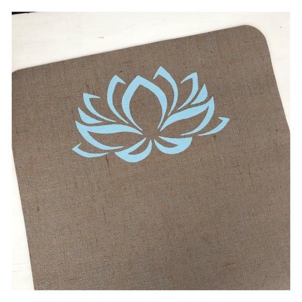 Lotus Yogamatte von Herzteil