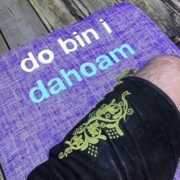 Bayerische Sonderedition - DA BIN I DAHOAM - Jute Yogamatte