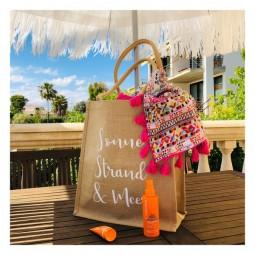 Sommer, Strand & Meer Jute Tasche