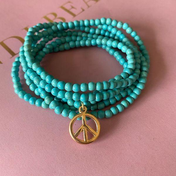 Peace Armband - türkis