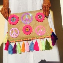 Herzteil Bohemian Peace Bag