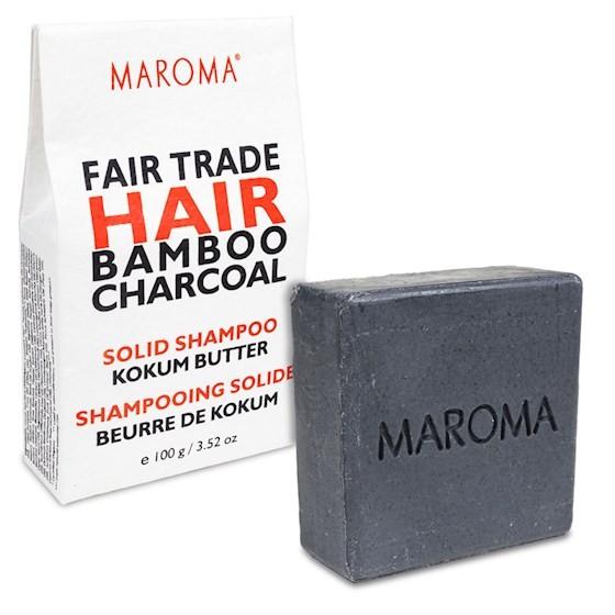Maroma Fair Trade Haarseife Bambuskohle