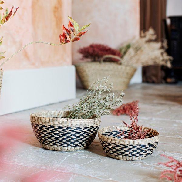 Niedliches Korb-Set aus Seegras