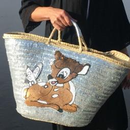 Bambi Pailletten Korb by Herzteil - Einzelstück